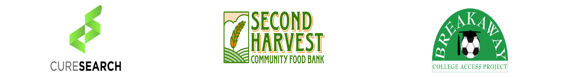 Cure Search, Second Harvest, and The Breakaway College Access Project.