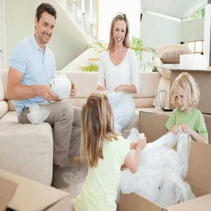 A family shipping some home furnishings.